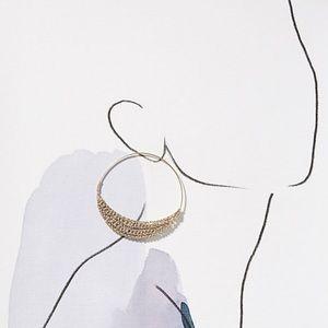 Anthropologie Jewelry - Anthropologie Riley Crochet Hoops